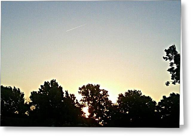 As The Sun Prepared To Rise.... #sky Greeting Card by Kel Hill