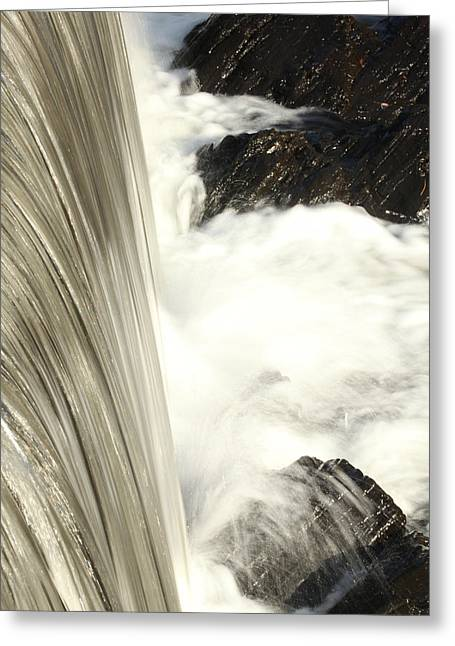 As The Water Falls Greeting Card by Karol Livote