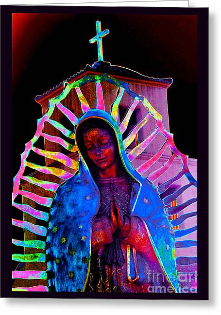 Ascension Virgin Of Guadalupe Greeting Card by Susanne Still