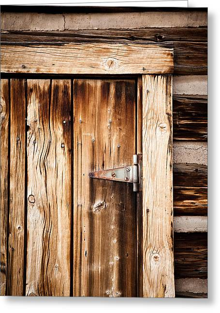 Ashcroft Ghost Town Door  Greeting Card