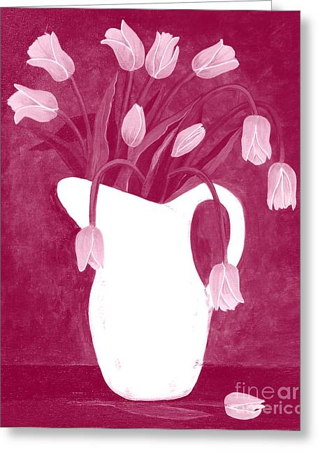 Ashes Of Roses Tulips Greeting Card by Barbara Griffin