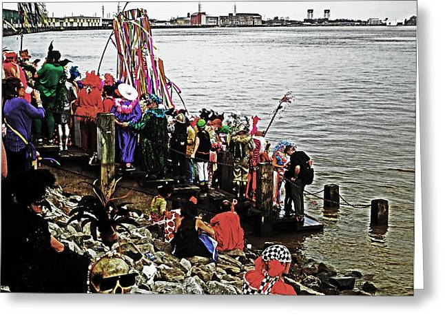 Ashes To Water Mardi Gras Day In New Orleans Greeting Card