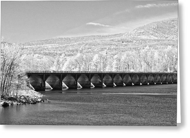 Greeting Card featuring the photograph Ashokan Reservoir Infrared by Nancy De Flon