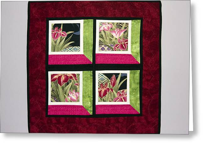 Asian Shadow Box Greeting Card by Sally Weigand