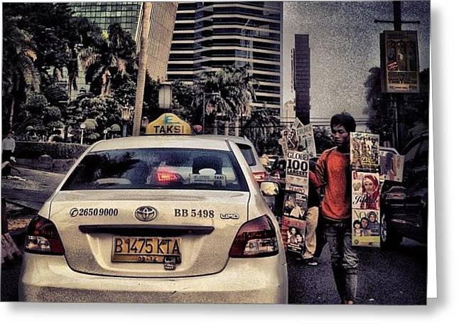 Asongan #social #traffic #jakarta Greeting Card