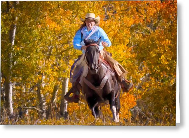 Aspen Conquest Greeting Card by Janet Fikar