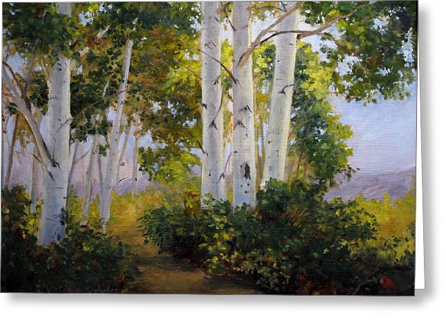 Aspen Grove Greeting Card by Victoria  Broyles
