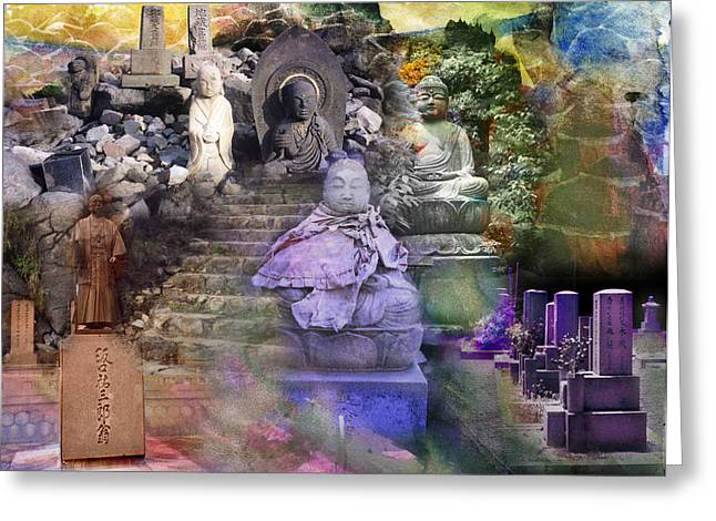 Assemblage  Of Buddhas Greeting Card