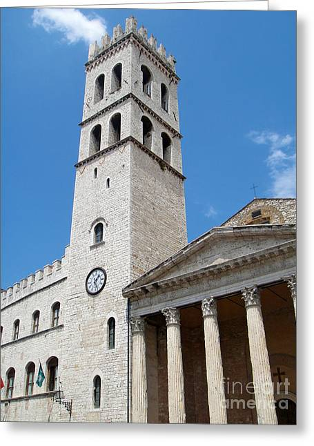 Assisi Italy - Santa Maria Sopra Minerva Greeting Card by Gregory Dyer