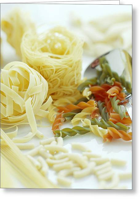 Assorted Pasta Greeting Card by David Munns