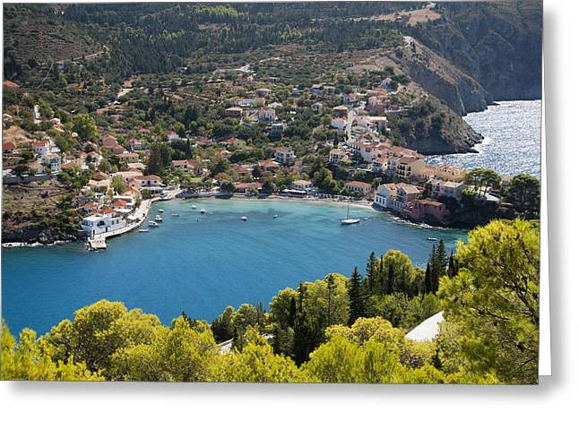 Assos Harbor In Greece Greeting Card by Rob Hemphill