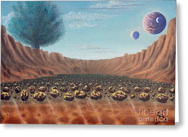 Asteroid Field From Arboregal Greeting Card