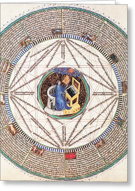 Astrologer In The Zodiac Greeting Card by Science Source