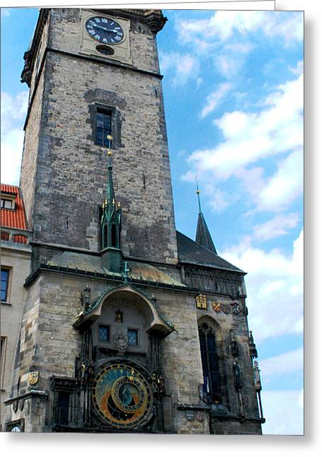 Astronomical Clock In Prague Greeting Card by Pravine Chester