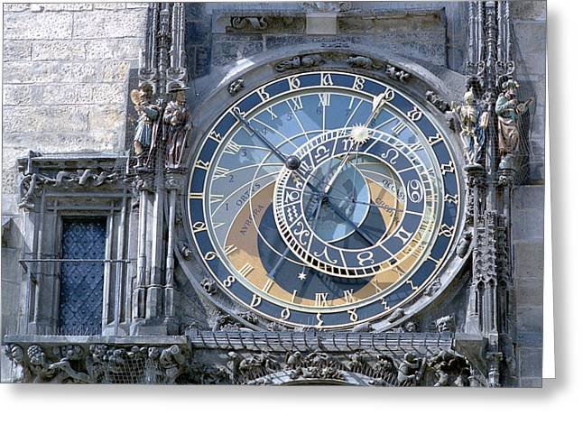 Astronomical Clock, Prague Greeting Card by Victor De Schwanberg