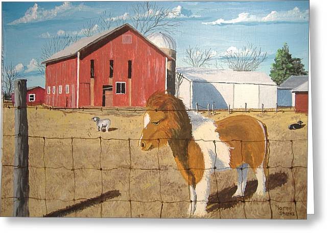 Greeting Card featuring the painting At Home by Norm Starks