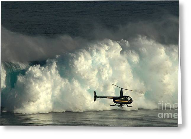 At Peahi Greeting Card by Vivian Christopher