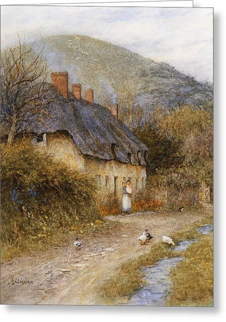 At Symondsbury Near Bridport Dorset Greeting Card by Helen Allingham