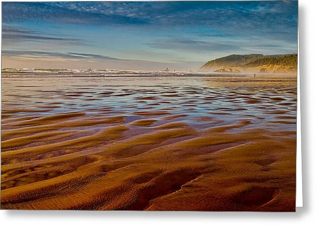 At The Beach Greeting Card by Ken Stanback