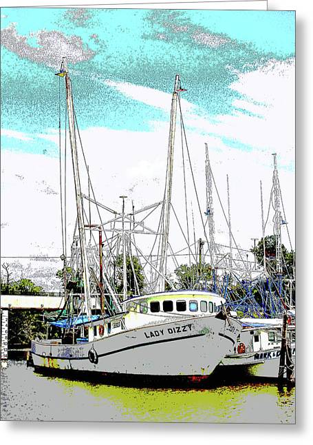 At The Dock Greeting Card by Barry Jones