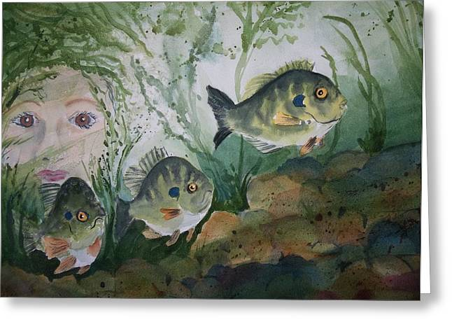 At The Fish Hatchery Greeting Card