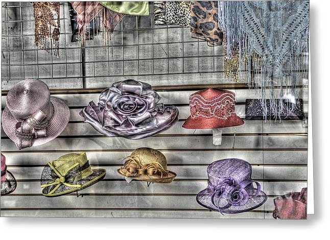 At The Milliners Greeting Card by William Fields