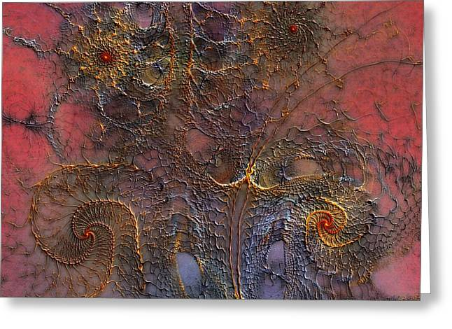 Greeting Card featuring the digital art At The Moment by Casey Kotas