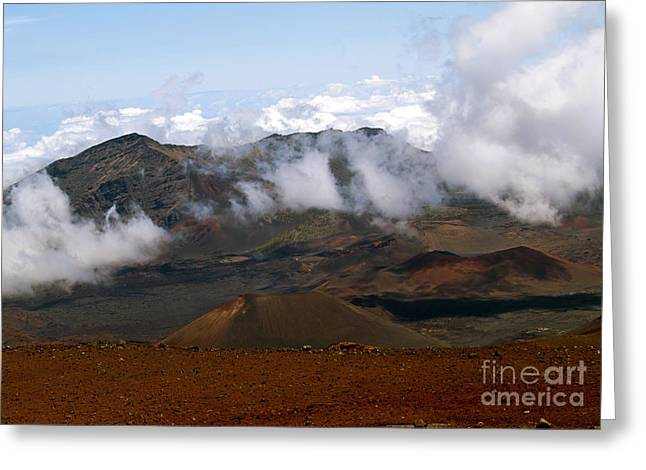 At The Rim Of The Crater Greeting Card