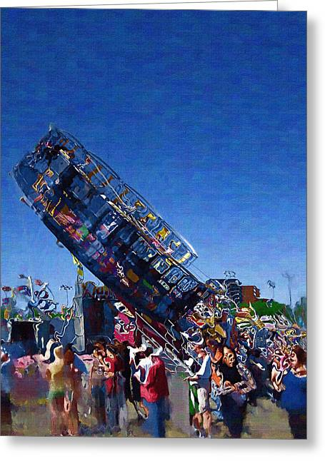 Greeting Card featuring the photograph At The Summer Fair by Mario Carini