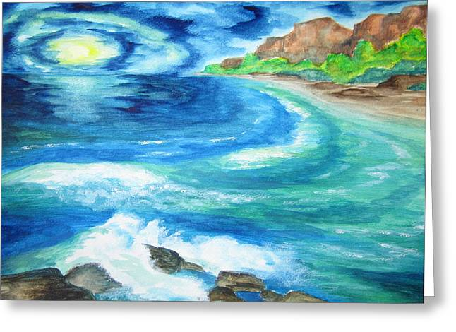 Greeting Card featuring the painting At Waters Edge -wcs by Cheryl Pettigrew