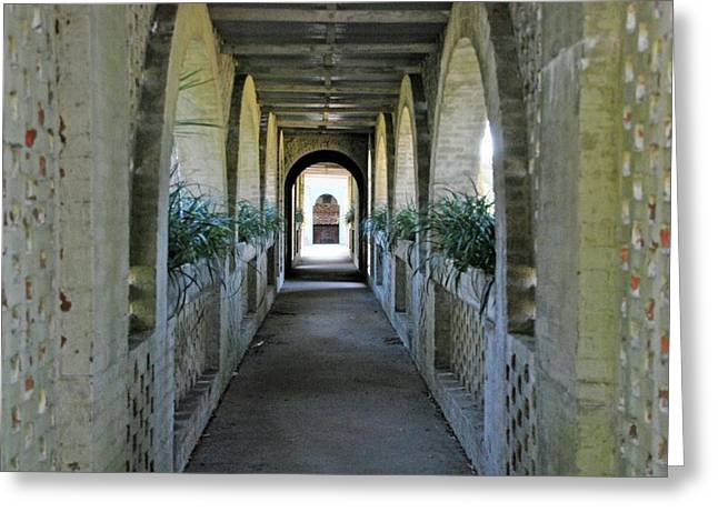 Atalaya Covered Walkway Greeting Card