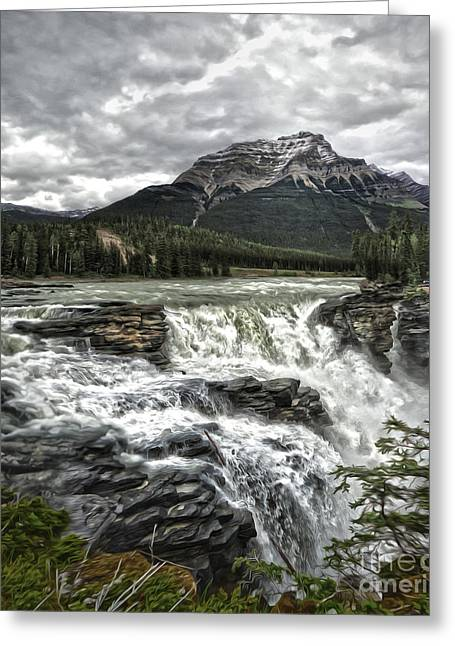 Athabasca Falls - Jasper National Park Greeting Card