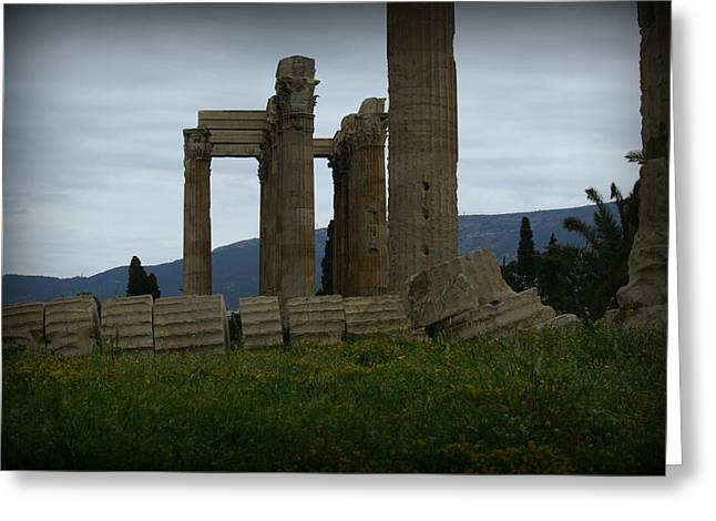Athens Ruins Greeting Card by Kevin Flynn