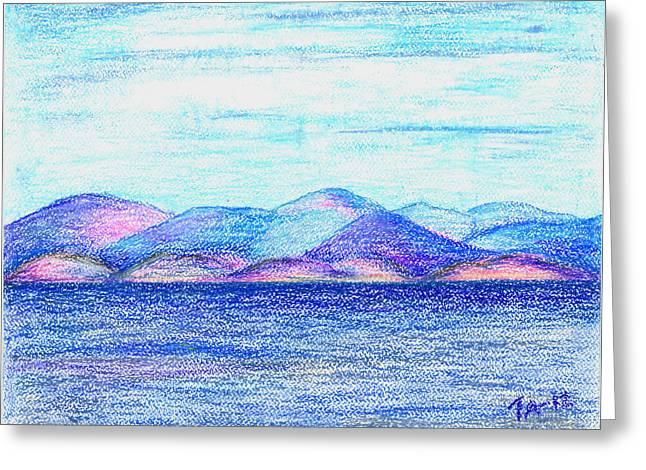 Atlantic Mountains 2 Greeting Card by Taruna Rettinger