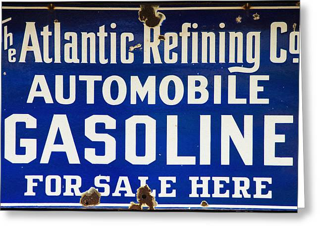 Atlantic Refining Co Sign Greeting Card by Bill Cannon