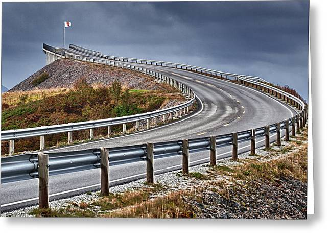 Atlantic Road Greeting Card by A A