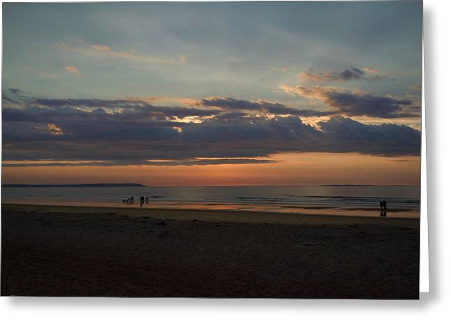 Atlantic Sunrise Greeting Card by Nancy Griswold
