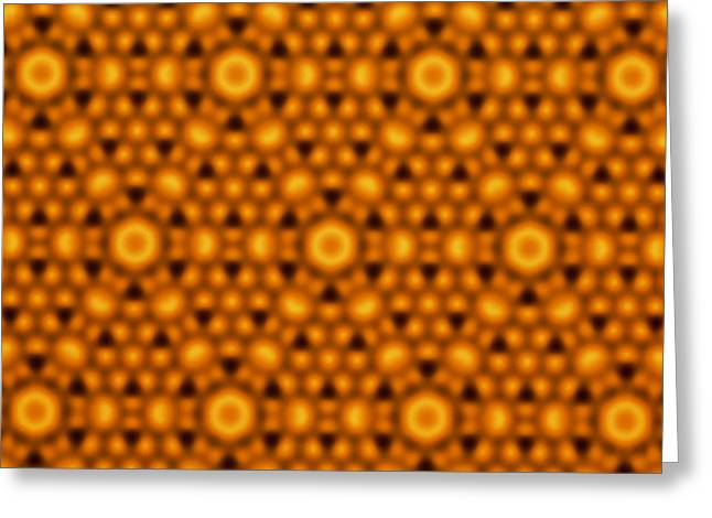 Atomic Surface Of A Silicon Crystal Greeting Card by Northwestern University