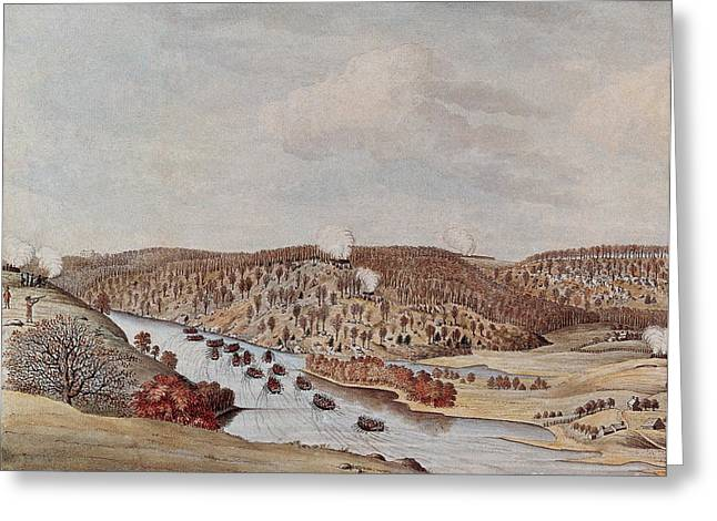 Attack Against Fort Washington 1776 Greeting Card by Photo Researchers