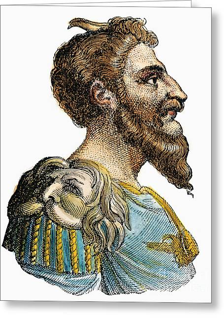 Attila, King Of The Huns Greeting Card by Granger