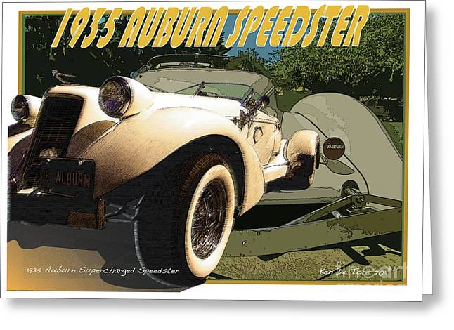 Auburn Speedster Greeting Card by Kenneth De Tore