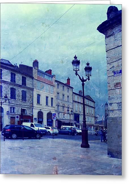 Auch- Place De La Liberation Greeting Card by Sandrine Pelissier
