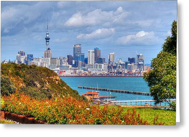 Auckland Greeting Card by Lynette McNees