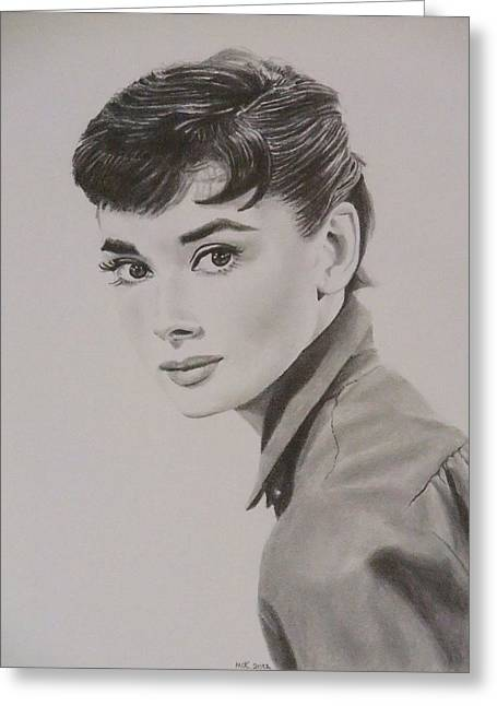 Audrey Greeting Card by Mike OConnell