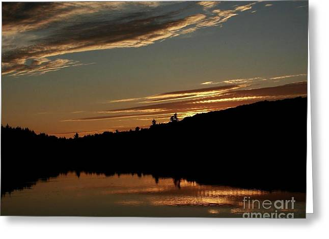 August Lake Sunset Greeting Card