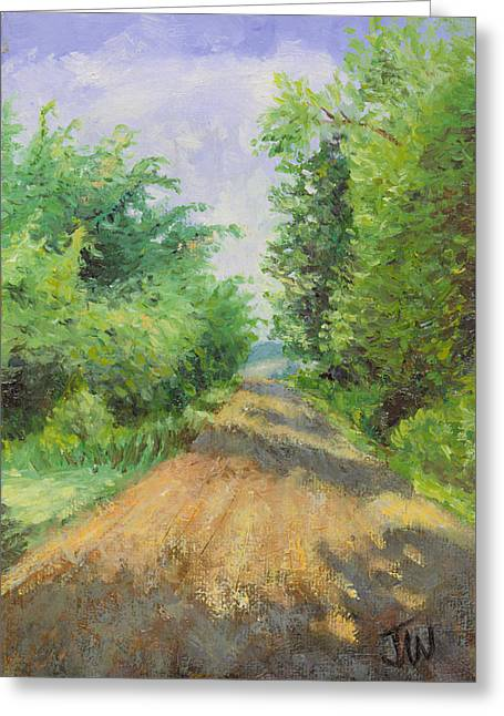 Greeting Card featuring the painting August Lane by Joe Winkler