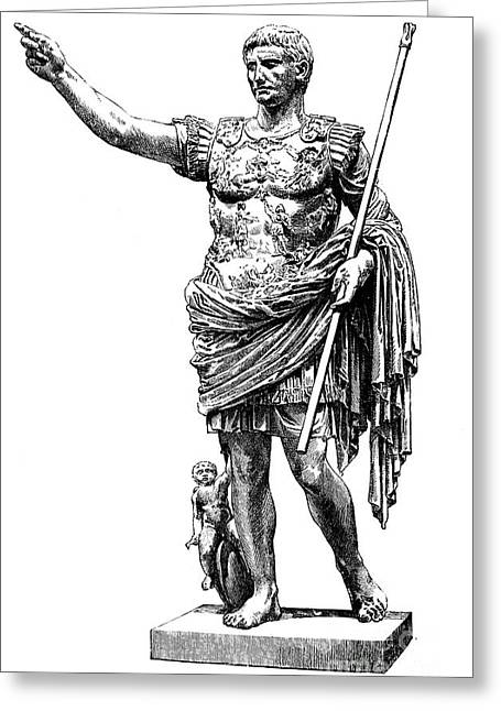 Augustus (63 B.c.-14 A.d.) Greeting Card by Granger