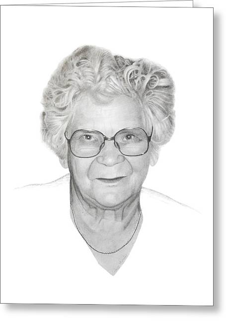 Aunt Flora Greeting Card by Conrad Mieschke