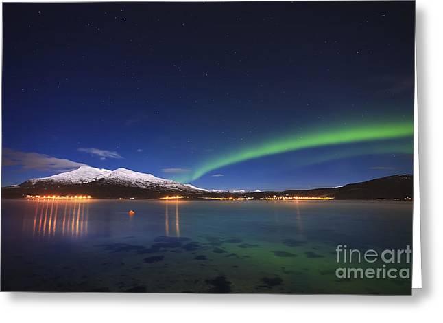 Aurora Over Tjeldsundet Greeting Card