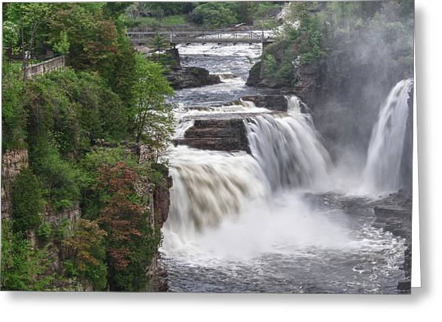 Ausable Chasm 5172 Greeting Card by Guy Whiteley